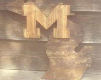 Reclaimed University of Michigan Sign