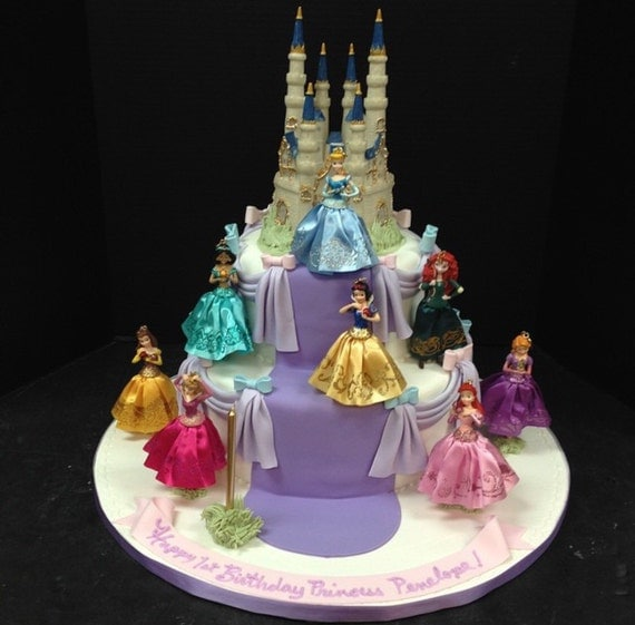 how to make a round princess castle cake
