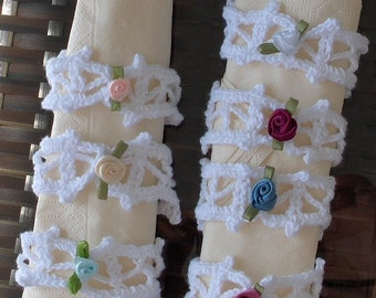10 crocheted napkin holders, wedding crochet, birthdays, , christmas, daily decoration, table decor, wedding napkin holder