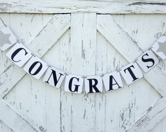 Congrats banner, congratulations, party decoration