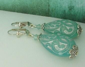 """Earrings """"Arabian nights"""" ornaments drops silver turquoise"""