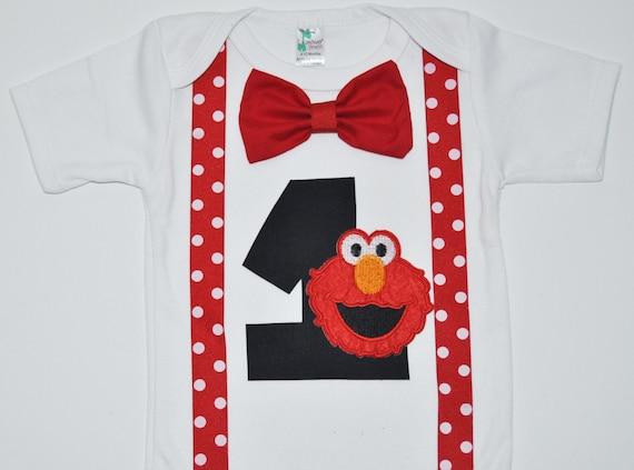 Elmo Birthday Bodysuit Shirt Cake By