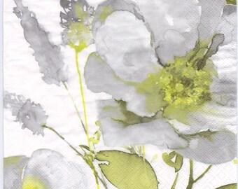 Decoupage Napkins | Vintage Grand Rose in Watercolor | Floral Napkins | Rose Napkins | Watercolor Napkins | Paper Napkins for Decoupage