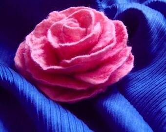 Rose brooch,  felted rose pin, wool felt flower brooch,  felt accessory, felted flower brooch, rose corsage