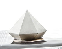 Concrete Diamond, one large Cement Diamond, paperweight, geometric cement home decor, handcrafted diamond beton sculptures