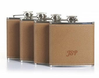 Groomsmen Gift, Pesonalized Wedding Favor, Monogrammed Flask, Hip Flask