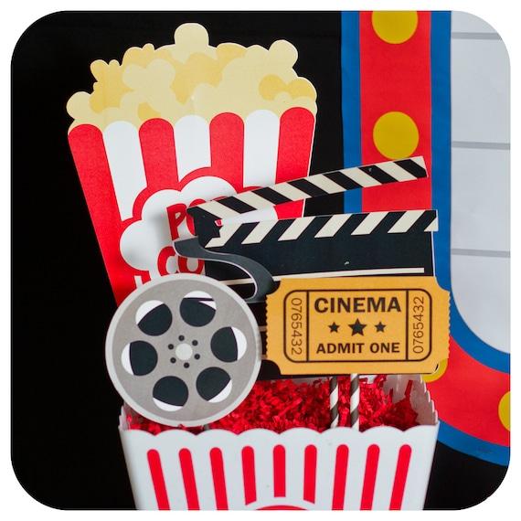 Movie night centerpieces birthday
