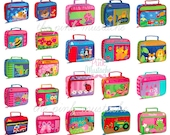Personalized Embroidered Lunch Box / Stephen Joseph Lunch Pals / Toddler / Little Kid Lunch Box / Sidekick Lunch Box