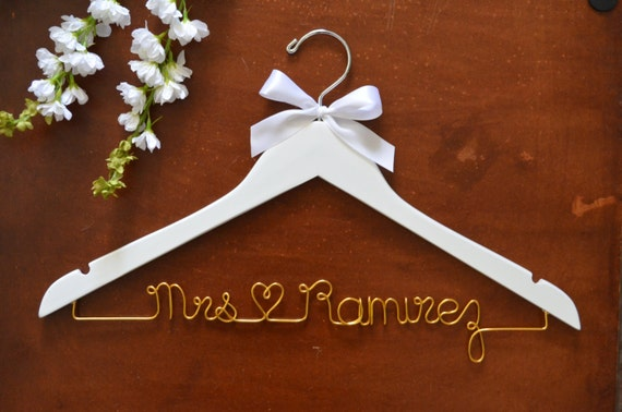 Bride Hanger Wedding Hanger Wedding Dress Hanger Bridesmaid
