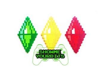 The Sims Plumbob - Green/Yellow/Red