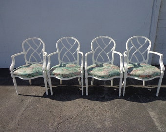French Provincial Hooded Dome Canopy Porter Chair Fan Chic
