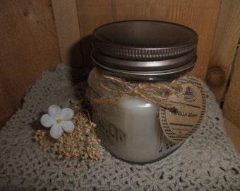 VANILLA BEAN 8oz  Mason Jar Candle