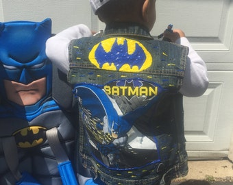 Batman inspired denim vest