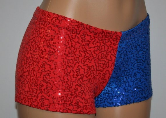 Harley Quinn Sequin Booty Shorts... Fully Lined. Only ONE