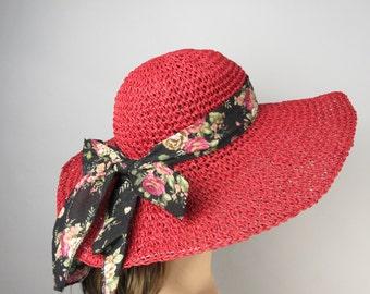 Women Straw Hat Summer Hat Church  Kentucky Derby Hat Beach Hat Sun Hat
