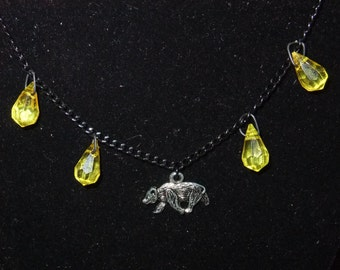 Yellow & Black Hufflepuff Necklace (H7)
