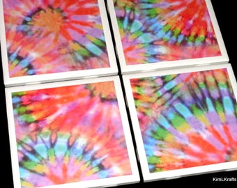 Tie Dye Coaster, Coasters, Coaster, Tile Coaster,Table Coasters, Tile Coasters, Drink Coasters, Ceramic Coasters, Coasters Set of 4