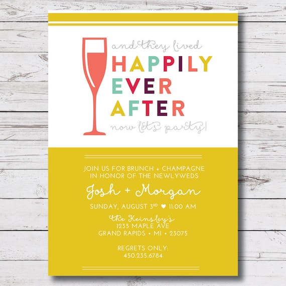 After Wedding Brunch Invitation: Printable Wedding Brunch / Morning After By VallarinaCreative
