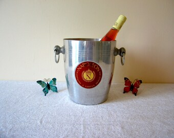 Rare NAPOLEON Champagne Bucket/Cooler, Vintage French, Aluminium