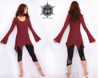 Nubia dress. faery dress, elven clothing, elven mini dress, fantasy dress, pixie dress, tribal dress, fairy tale, elf dress