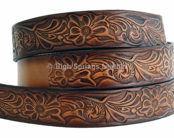 Western Designed Leather Name Belt 1