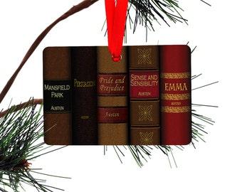 Jane Austen Books Christmas Tree Ornament