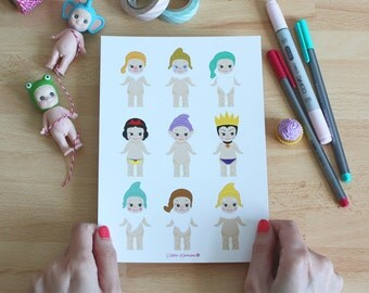 A5 Print - Illustration Sonny Angel x Snow White and the Seven Dwarfs