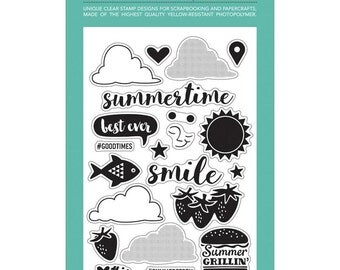 CLEARANCE! October Afternoon Summertime Clear Cling Stamps