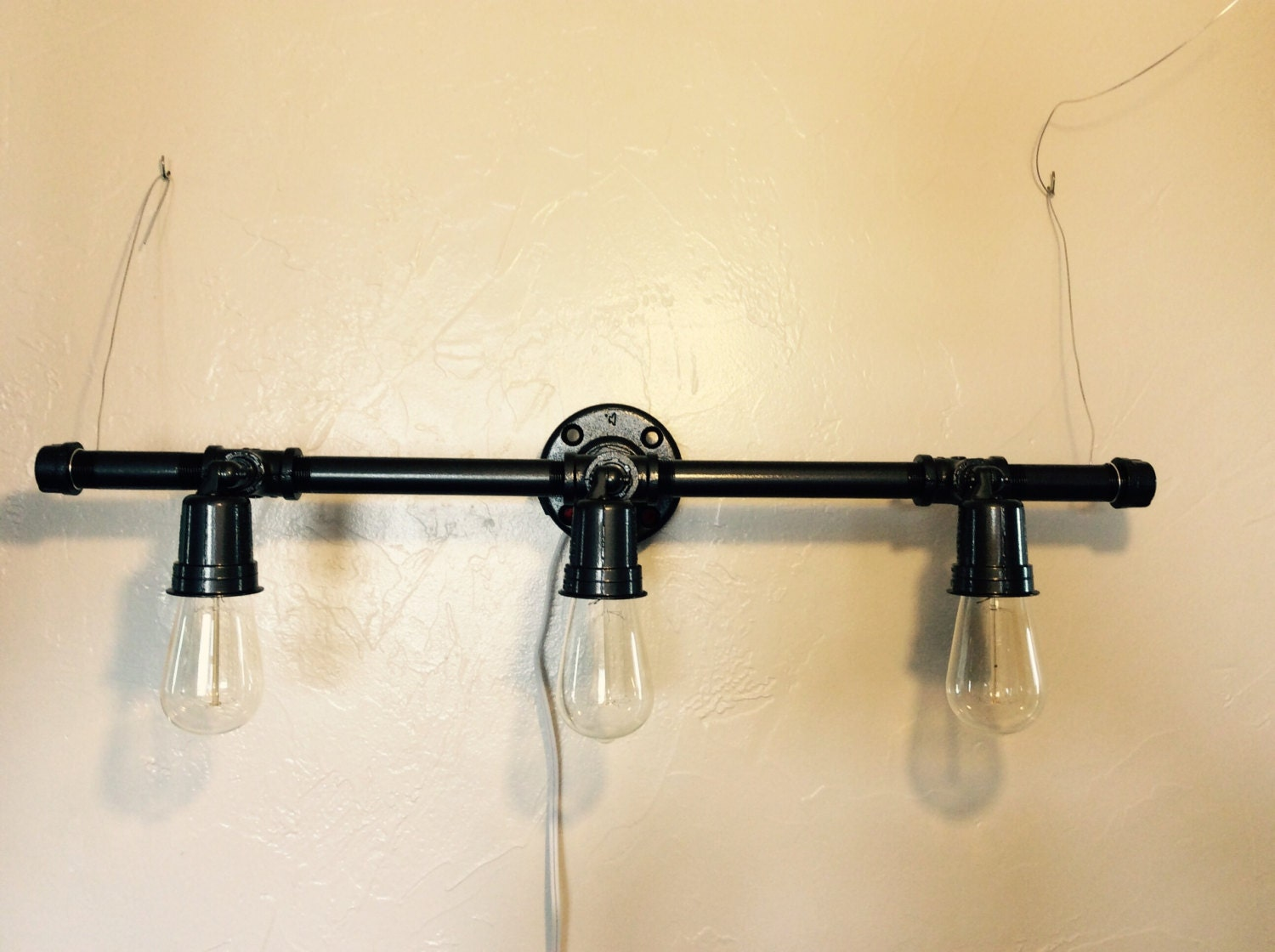 Industrial Pipe Light Fixture By FeralLove On Etsy