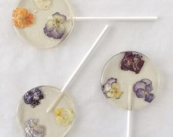 3 Floating Flowers Lollipops