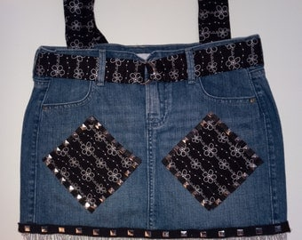 Black and Silver Studded Bling