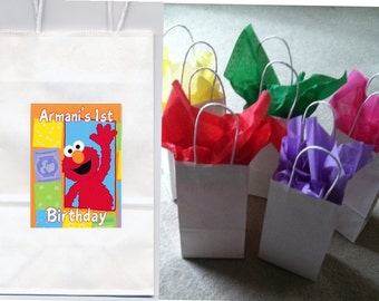 Elmo party favor goody bags personalized set of 10