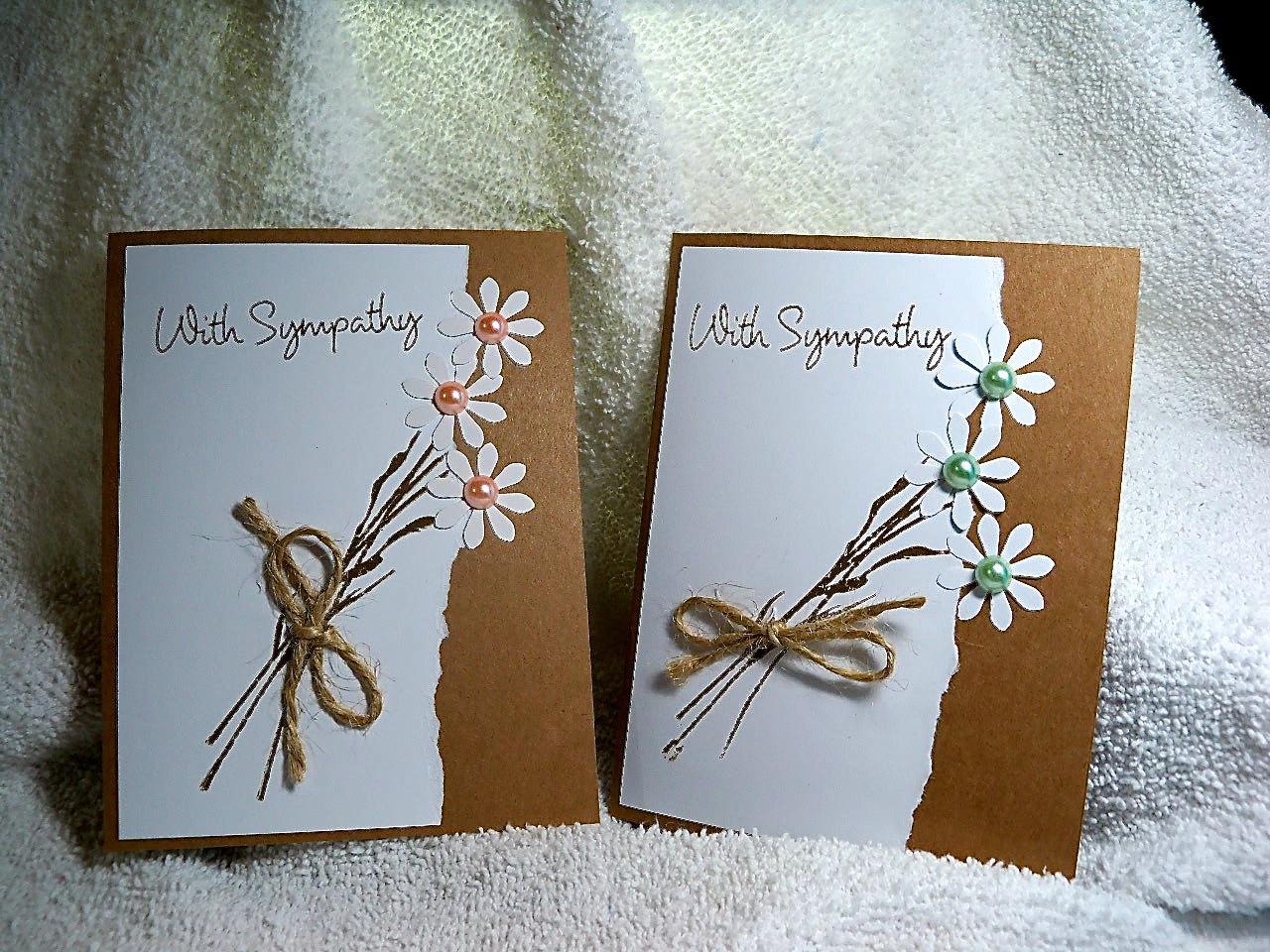 handmade sympathy card stamped andmooserivercardshop