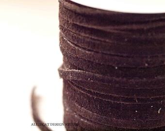 3mm Dark Brown Suede 2 Metres