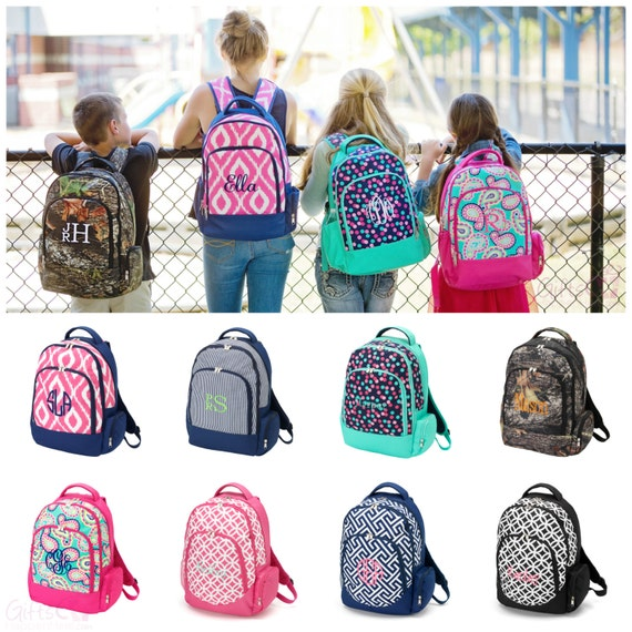 items similar to personalized kids backpack teen 17 u0026quot  full size book bag school tote boys girls