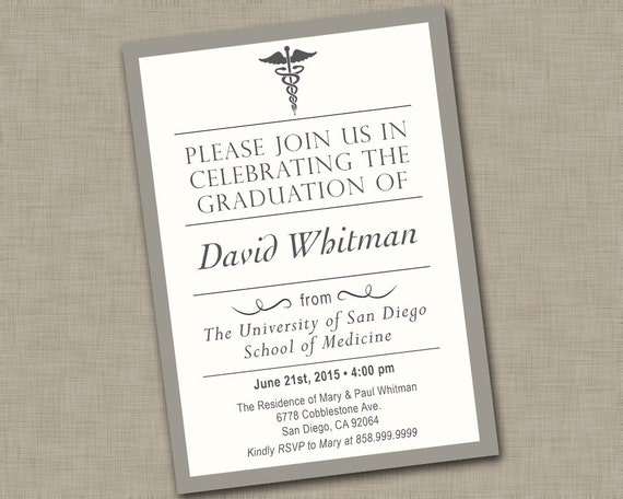 Medical School Graduation Invitations could be nice ideas for your invitation template