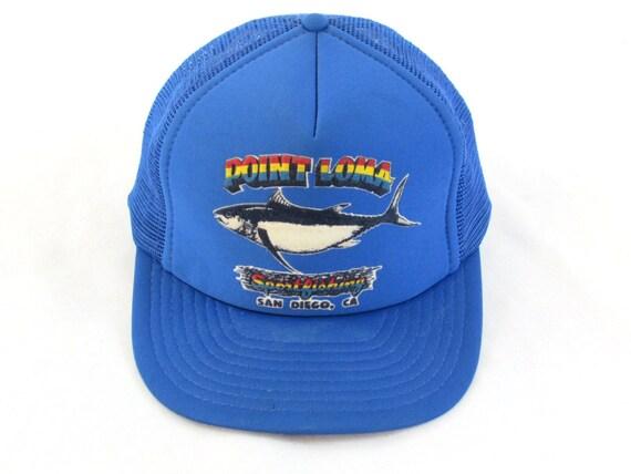 Vintage point loma san diego fishing snapback hat for Fishing snapback hats