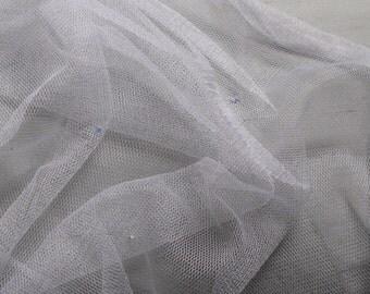 100% French silk tulle with Swarovski crystals priced per half yard - 1/2 yard