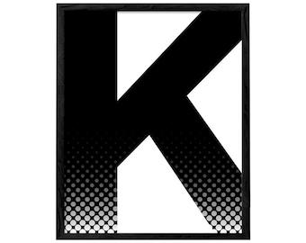 Letter K print typography print Scandinavian print typography poster Letter print Letter K posterMinimalist poster scandinavian art letter