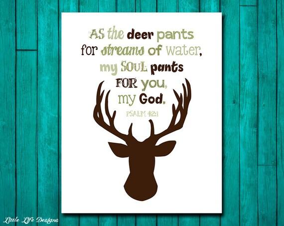 Hunting Nursery Decor Psalm 42 1 Hunting Decor Christian