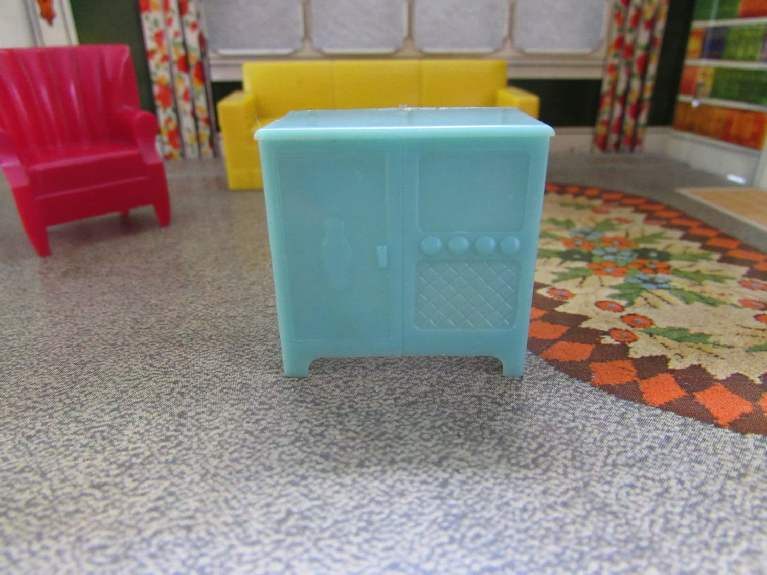 Vintage Marx Plastic Dollhouse Furniture Marx By Foxlanevintage
