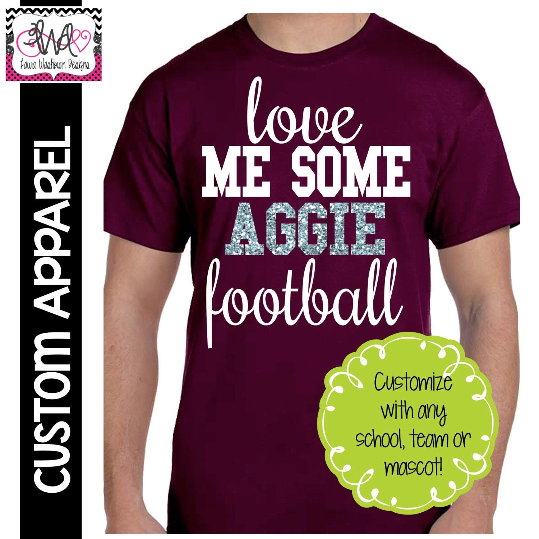 Custom Apparel Custom Love Me Some Team T Shirt