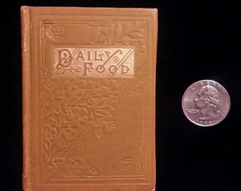Antique Miniature Book - Daily Food c. 1880s