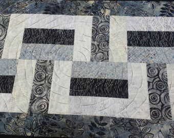 Quilted Table Runner in Batiks