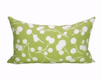 Burnet lumbar pillow cover in Citron