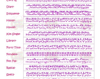 Monogram Font Charts- NOT FOR SALE