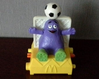 Grimace twisting sports mcdonalds happy meal toy 90s