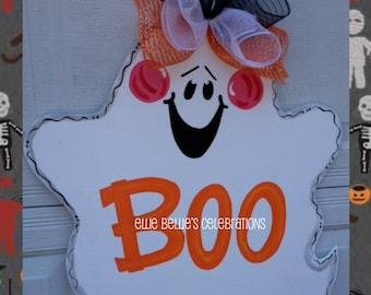 Halloween Ghost Door Hanger Sign