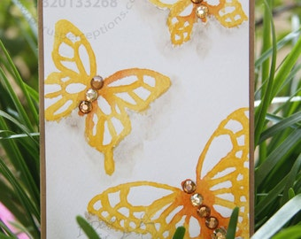 Set of 6 Blank butterfly cards