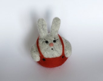 Needle Felted Bunny , Rabbit,woolen decoration, wool animal,